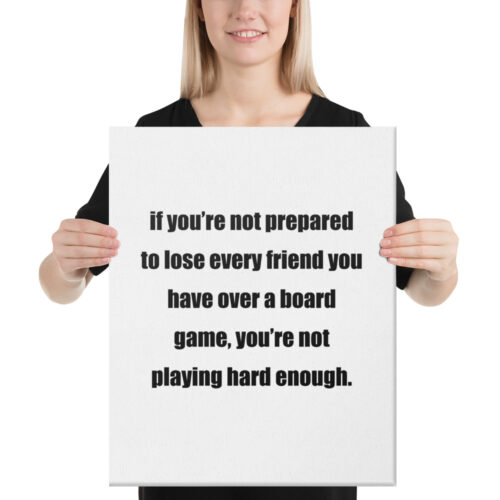 Not Playing Hard Enough Funny Canvas Poster