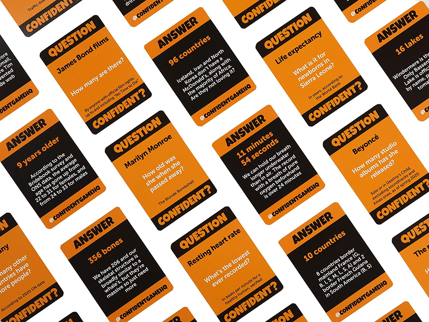 confident game cards